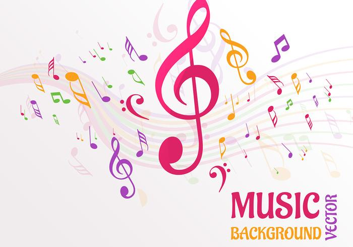 Cute Trumpet Wallpapers Abstract Music Notes Background Vector Download Free