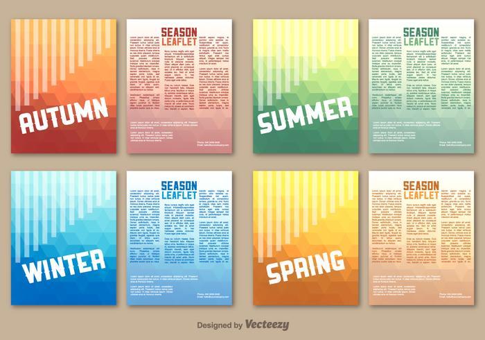 Seasonal leaflet template - Download Free Vector Art, Stock Graphics - leaflet template