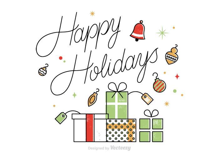Vector Happy Holidays Card - Download Free Vector Art, Stock
