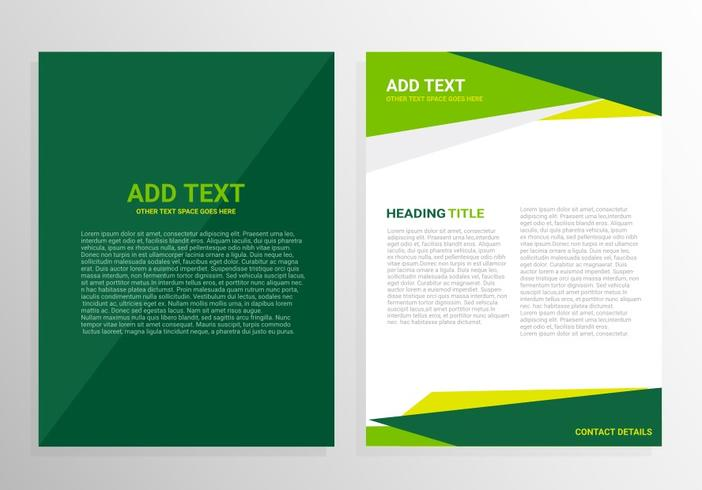 Green brochure template design - Download Free Vector Art, Stock - phamplet template