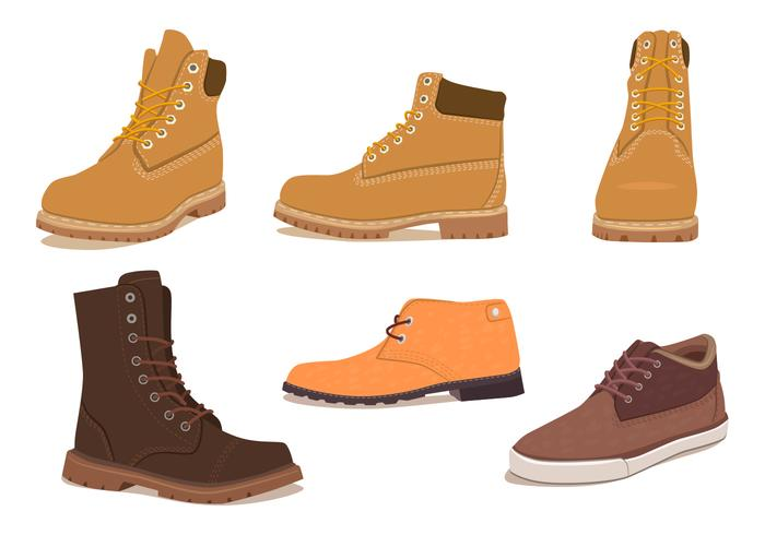 Mens Winter Shoes Download Free Vector Art Stock