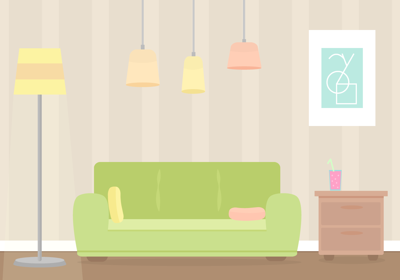 Sofa Set Vector Png Free Living Room Vector Download Free Vector Art Stock Graphics