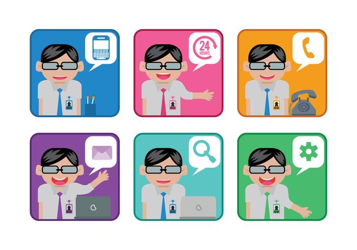 Administrative Assistant Vector Cartoons - Download Free Vector Art