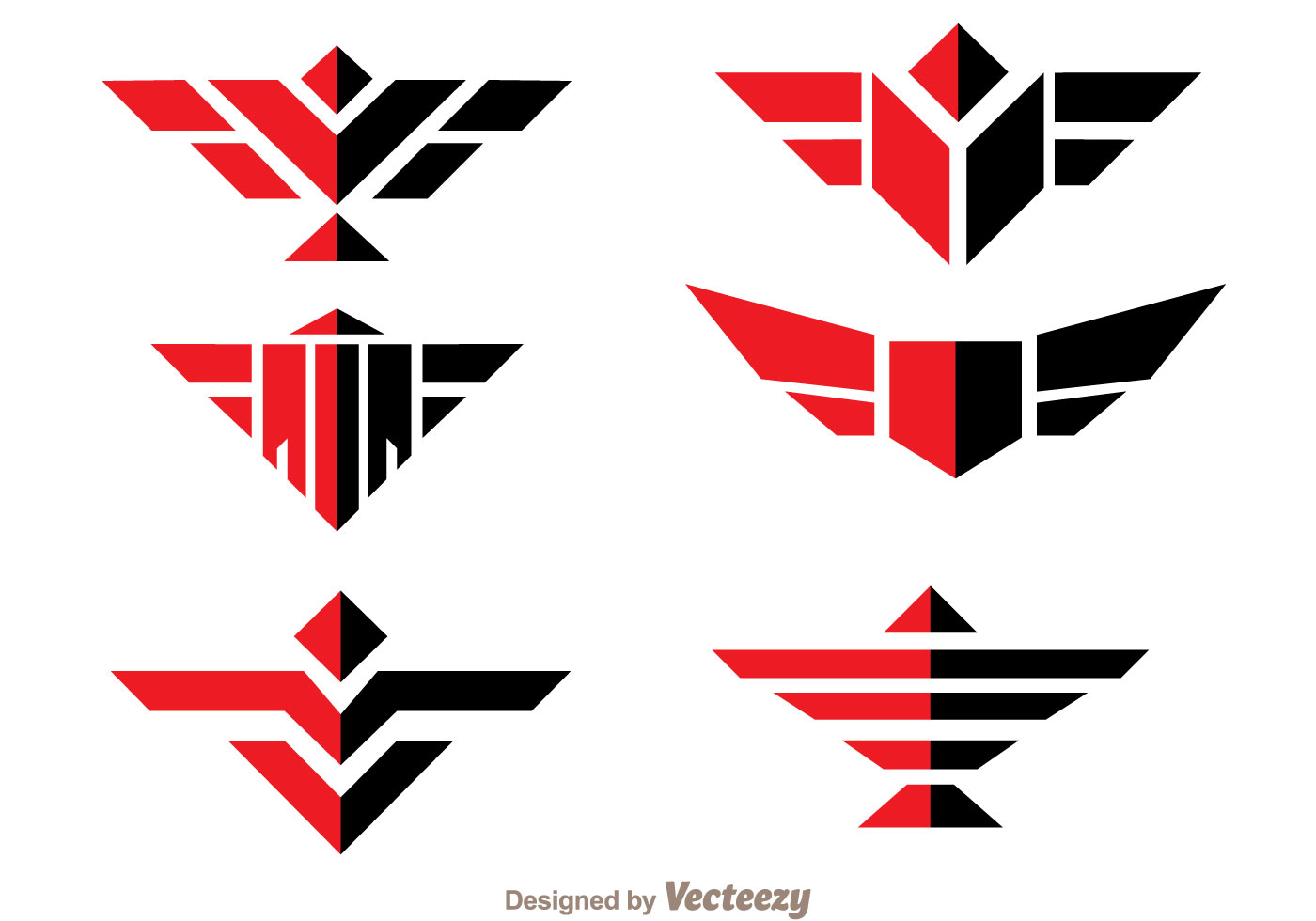 Arte Logo Eps Symmetric Hawk Logo Vector Download Free Vector Art