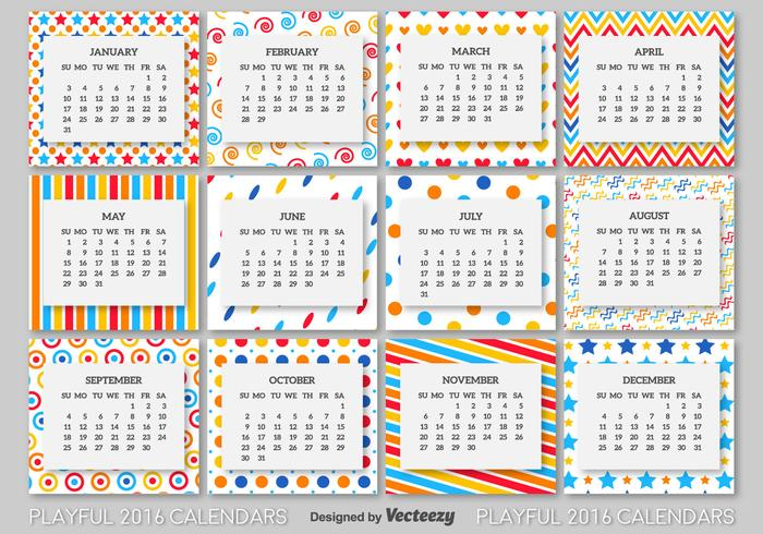 2016 calendar template - Download Free Vector Art, Stock Graphics
