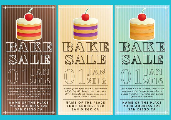 Bake Sale Flyers - Download Free Vector Art, Stock Graphics  Images