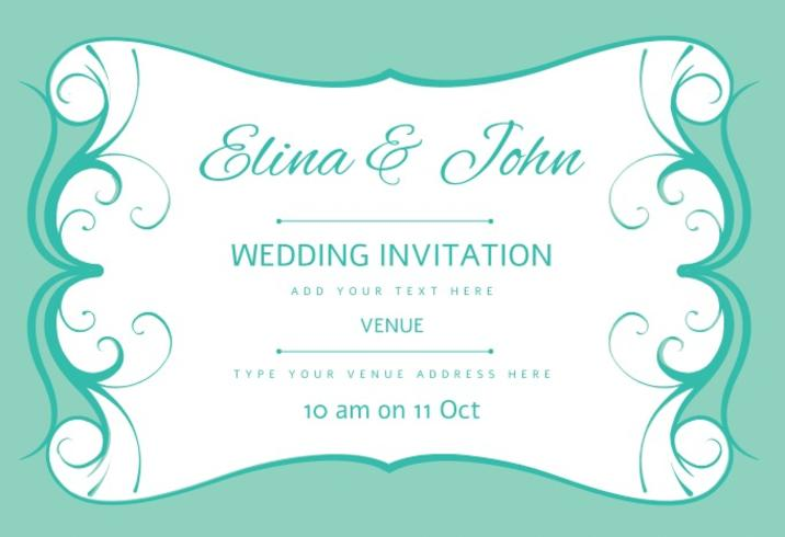Wedding Card Invitation Vector - Download Free Vector Art, Stock