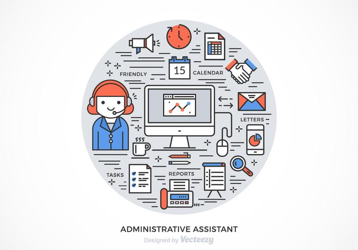 Free Administrative Assistant Vector Design - Download Free Vector - administrative assistant