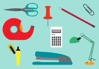 Set of Office Tools in Vector - Download Free Vector Art ...