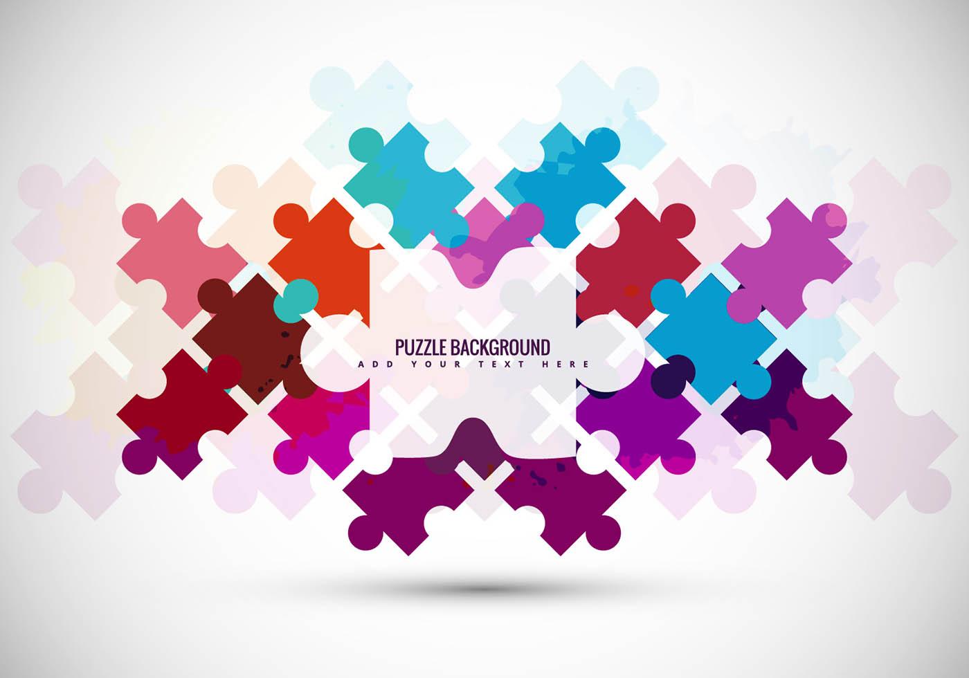 Drops Rainbow 3d Wallpaper Puzzle Piece Vector Background Download Free Vector Art