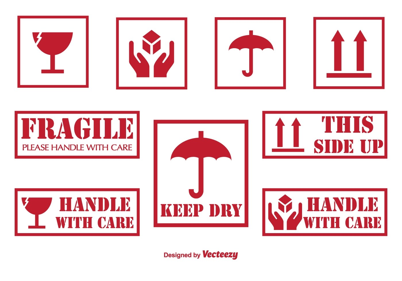 Handle With Care Labels And Icons Download Free Vector