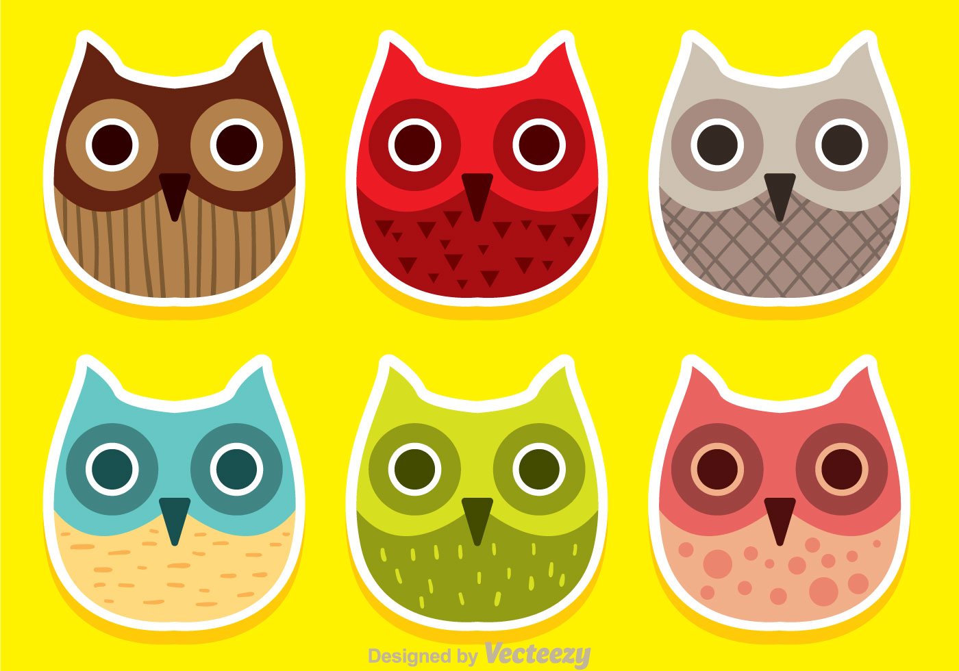 Colorful Pictures Of Owls Colorful Owl Face Vectors Download Free Vector Art