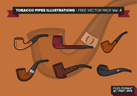 Tobacco Pipes Illustrations Free Vector Pack Vol. 4 ...