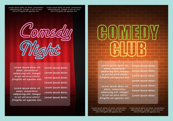 Comedy Club Flyers - Download Free Vector Art, Stock Graphics  Images