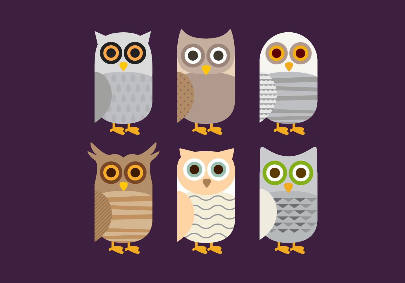 Cute Owl Cartoon Wallpaper Vector Barn Owl Download Free Vector Art Stock Graphics