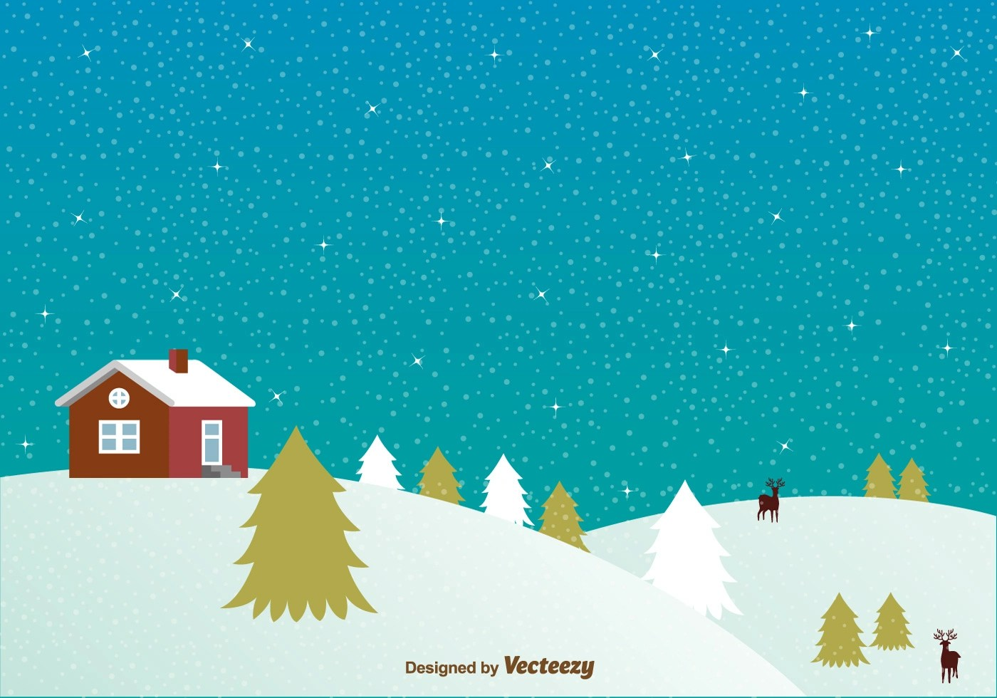 Free Download Of Christmas Wallpaper With Snow Falling Snowy Night With House Background Download Free Vector