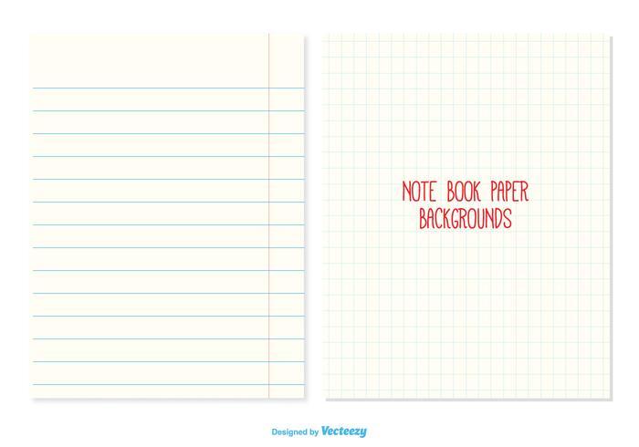 Notebook Paper Backgrounds - Download Free Vector Art, Stock