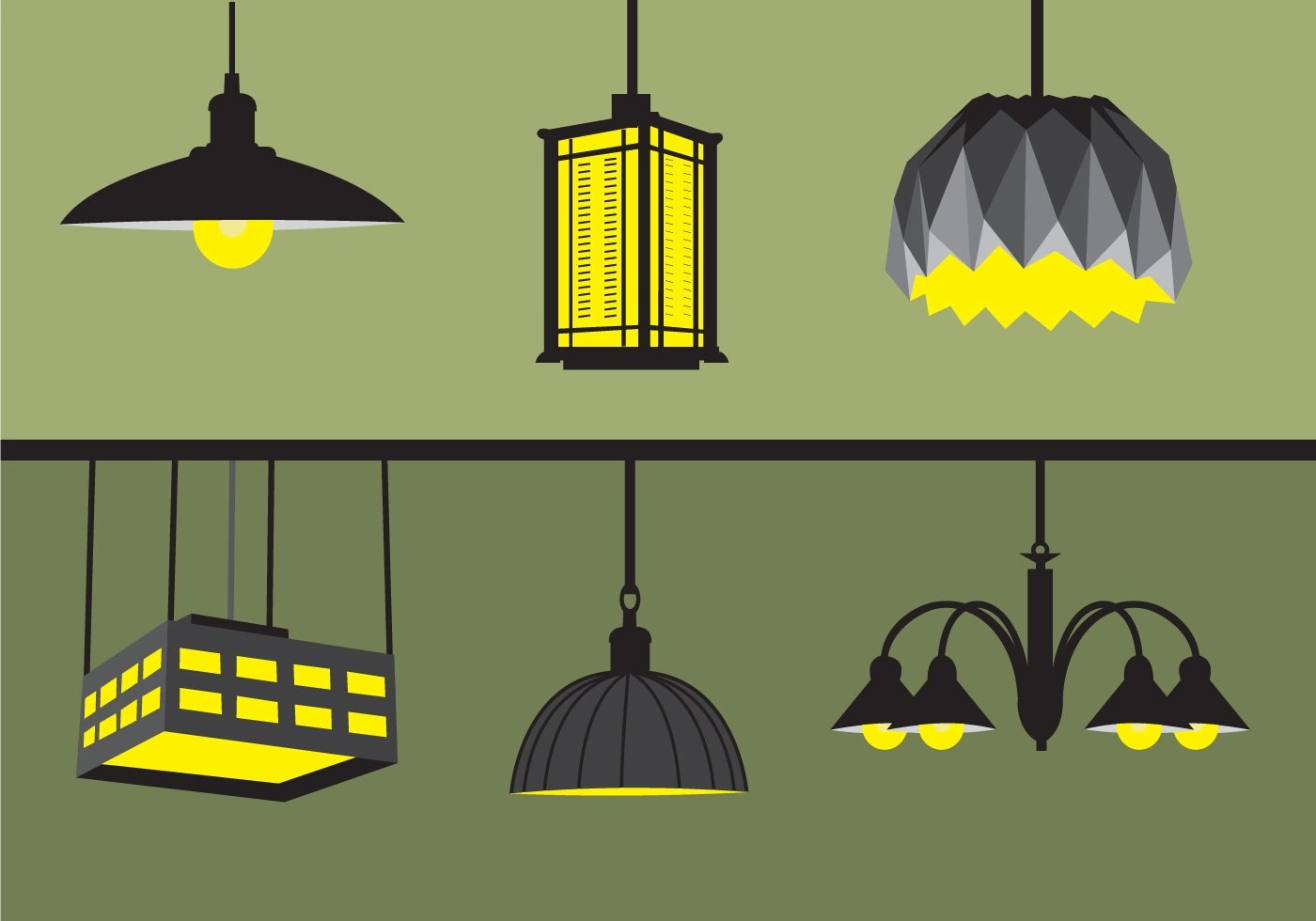 Glass Lamp Vector Pendant Light Free Vector Art 59 Free Downloads