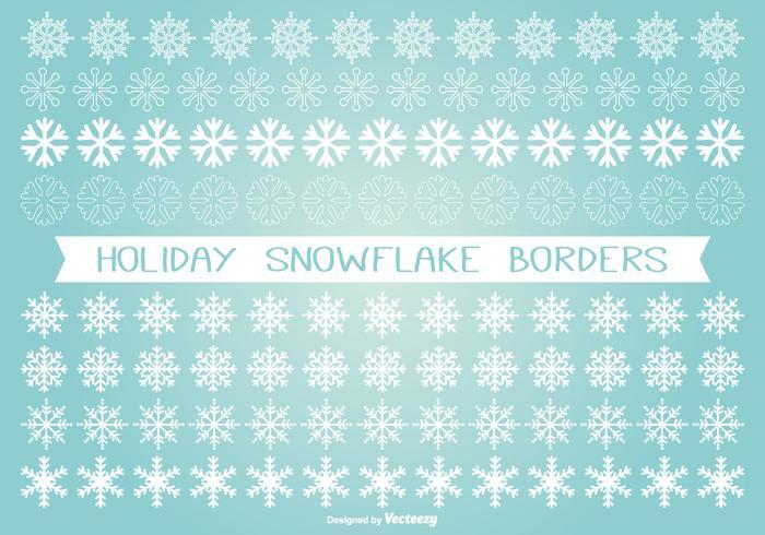 Snowflake Border Free Vector Art - (4881 Free Downloads) - snowflake borders for word