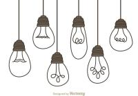 Hanging Light Bulbs - Download Free Vector Art, Stock ...