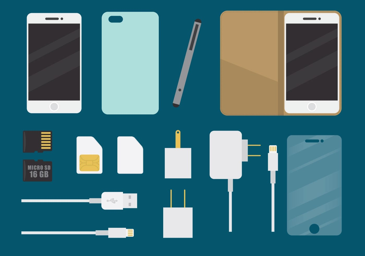 Phone Accessory Phone Accessories Download Free Vector Art Stock Graphics Images