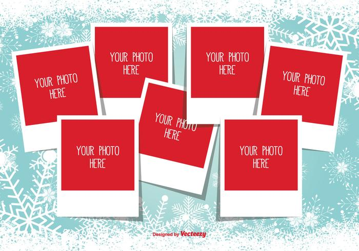 Christmas Photo Collage Template - Download Free Vector Art, Stock