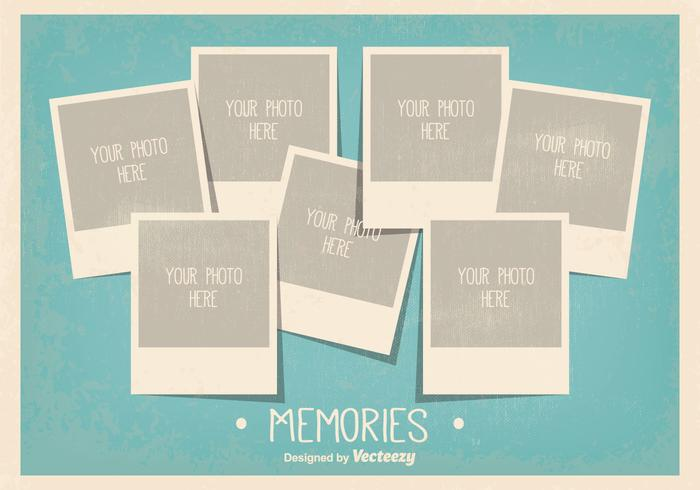 Vintage Style Photo Collage Template - Download Free Vector Art - free collage templates