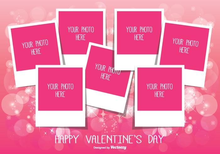 Valentine\u0027s Day Photo Collage Template - Download Free Vector Art