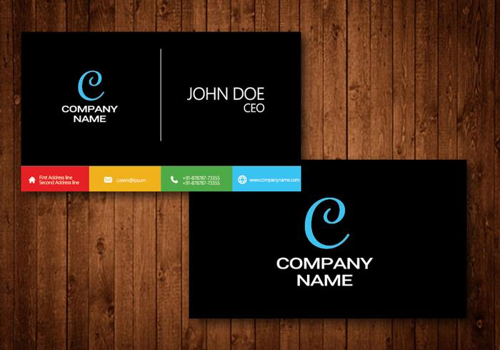 Rainbow Creative Visiting Cards - Download Free Vector Art, Stock