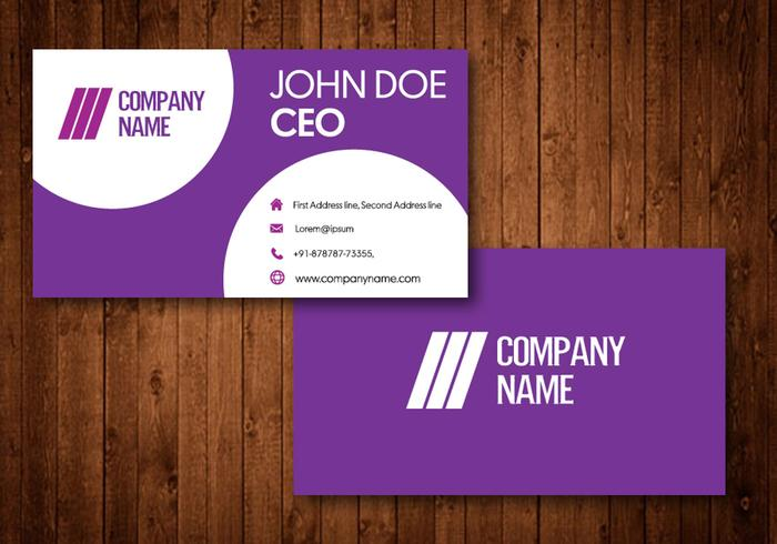 Creative Purple Business Cards - Download Free Vector Art, Stock
