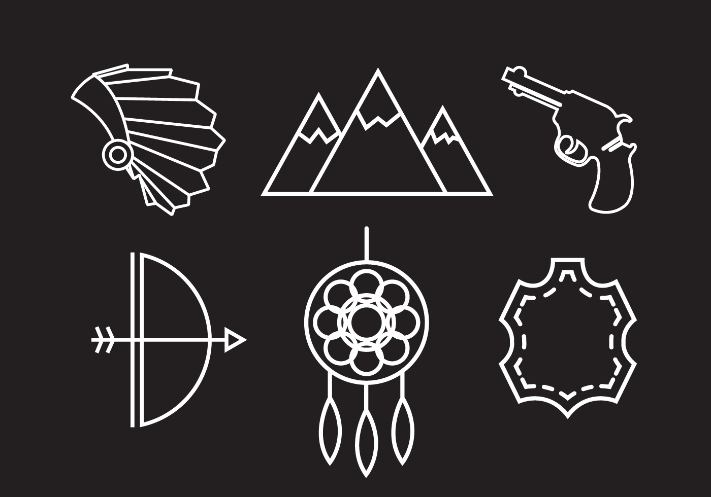 Tribal Cute Wallpaper Wild West Vector Icons Download Free Vector Art Stock