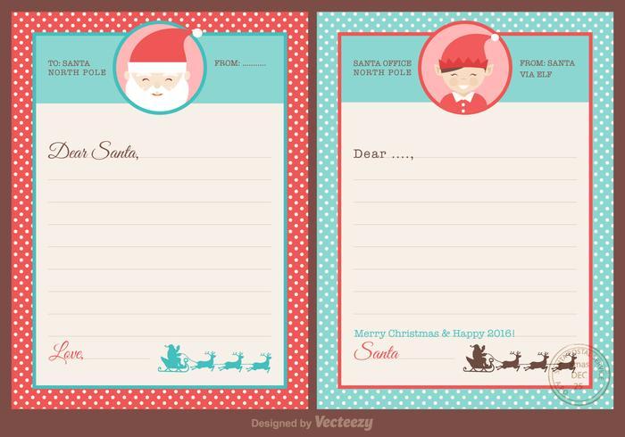 Free Santa Letters Design Vector - Download Free Vector Art, Stock
