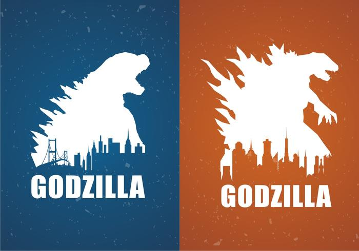 Godzilla Movie Poster Backgrounds Free Vector - Download Free Vector