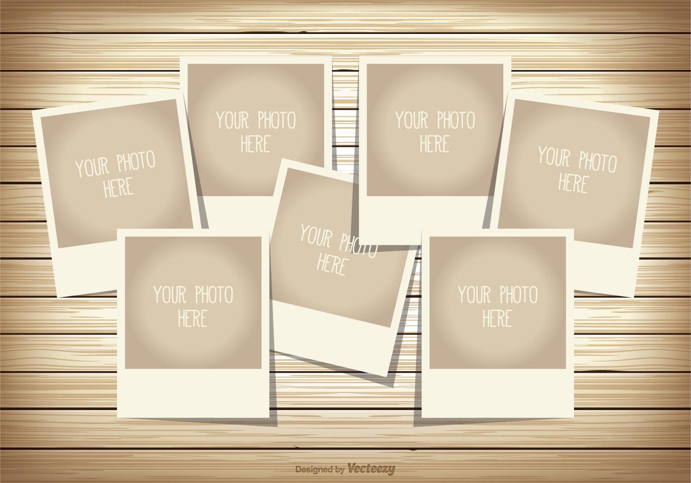 Polaroid Template Photoshop – Collage Template