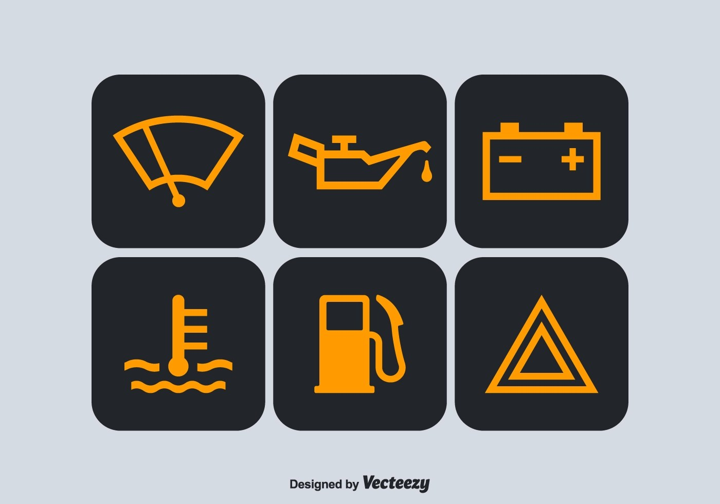 Warning Light Clipart Free Car Dashboard Vector Symbols Download Free Vector Art