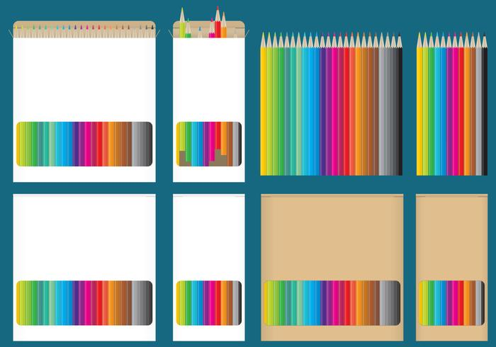 Color Pencil Boxes - Download Free Vector Art, Stock Graphics  Images
