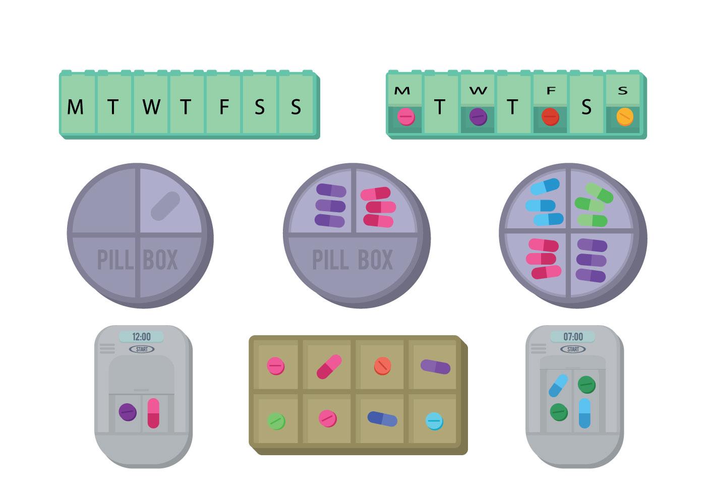 Pill Box Vector Download Free Vector Art Stock Graphics