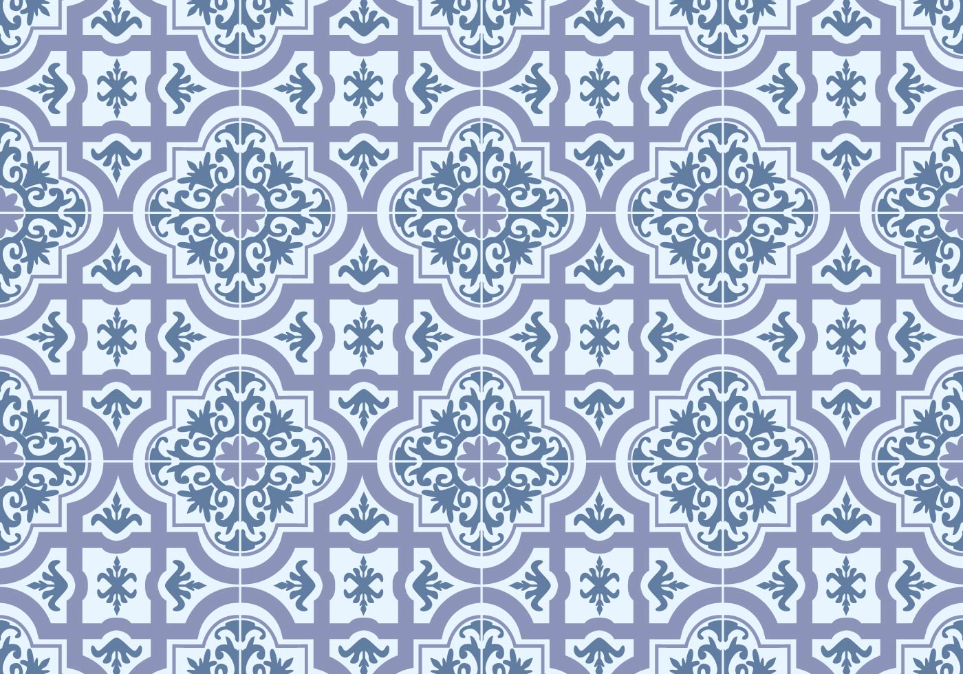 Black And Blue Floral Wallpaper Azulejos Tile Vector Download Free Vector Art Stock