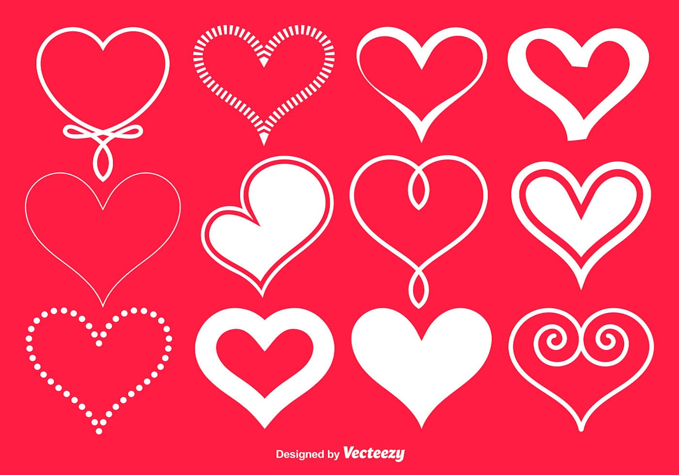 Wallpaper San Valentin 3d Vector White Hearts Collection Download Free Vector Art