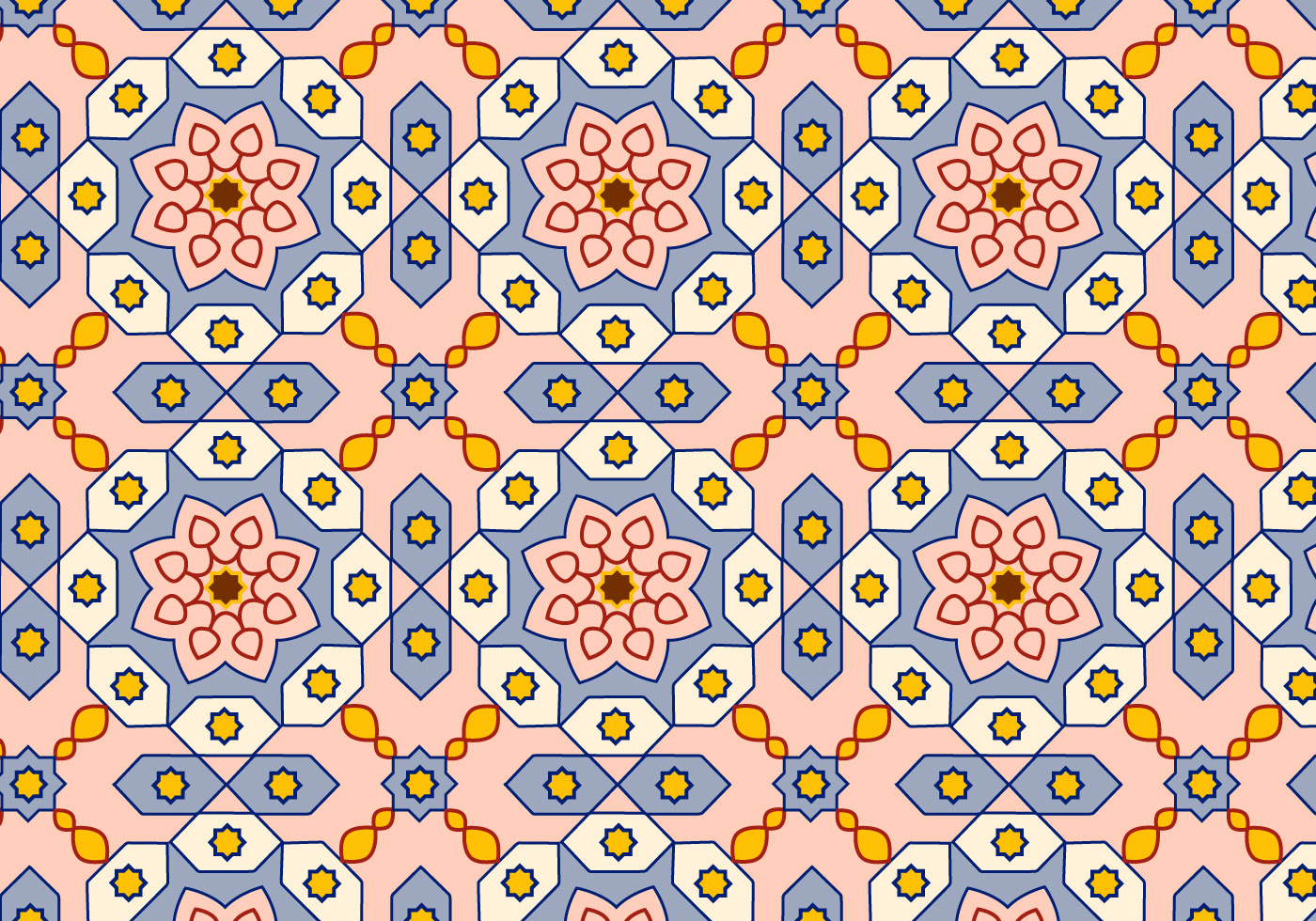 Batik Muster Arabic Pattern Background Vector - Download Free Vector