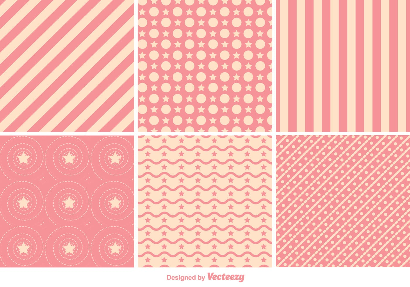 Pale Pink Wallpaper For Girl Nursery Geometric Pink Pattern Vectors Download Free Vector Art