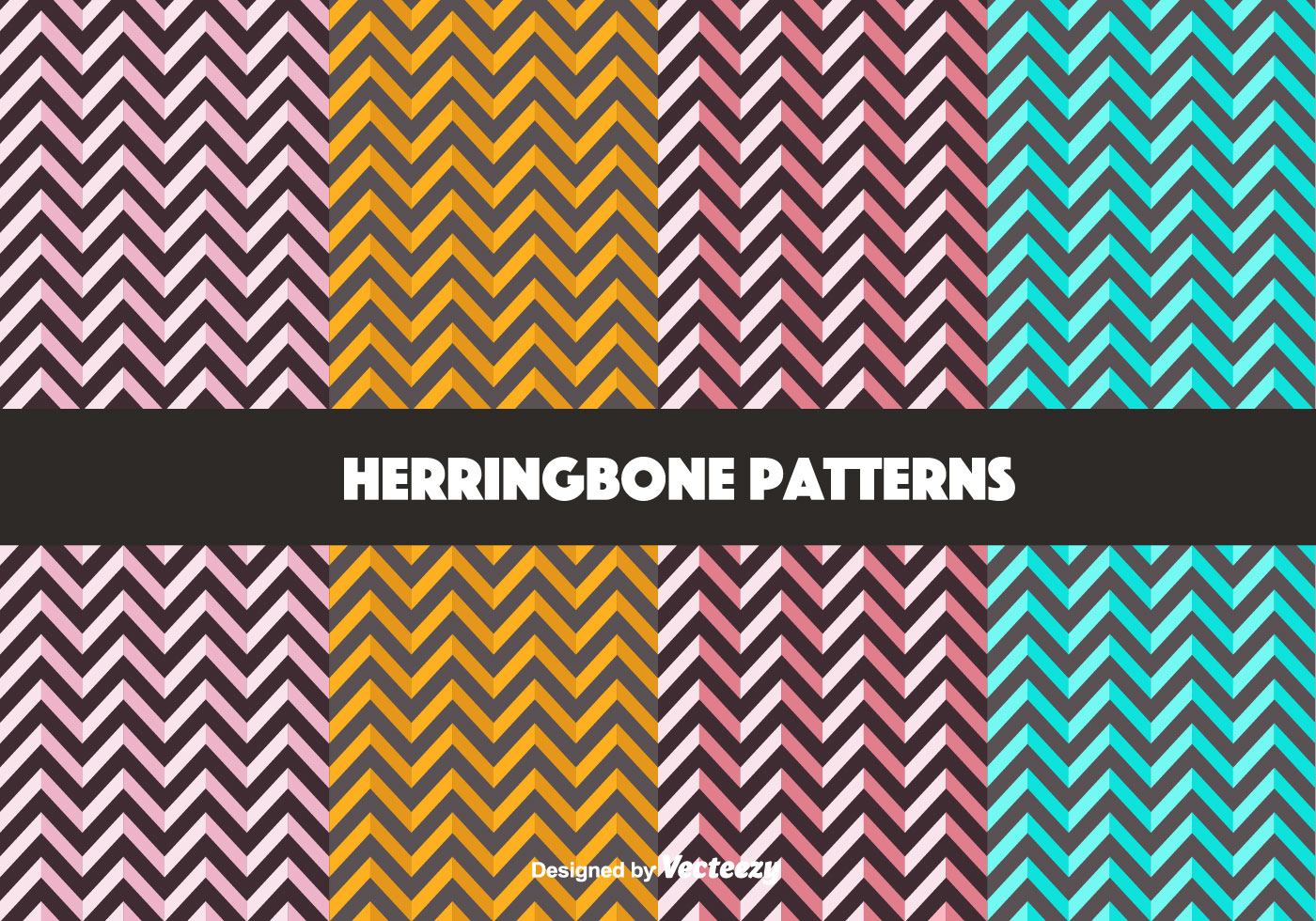 Black White Modern Wallpaper Free Bold Herringbone Pattern Vectors Download Free