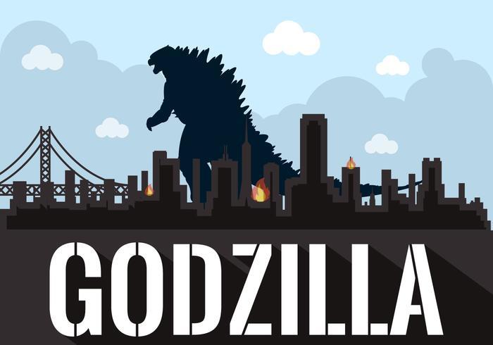 Wallpaper Geek Girl Vector Illustration Of Godzilla Download Free Vector Art