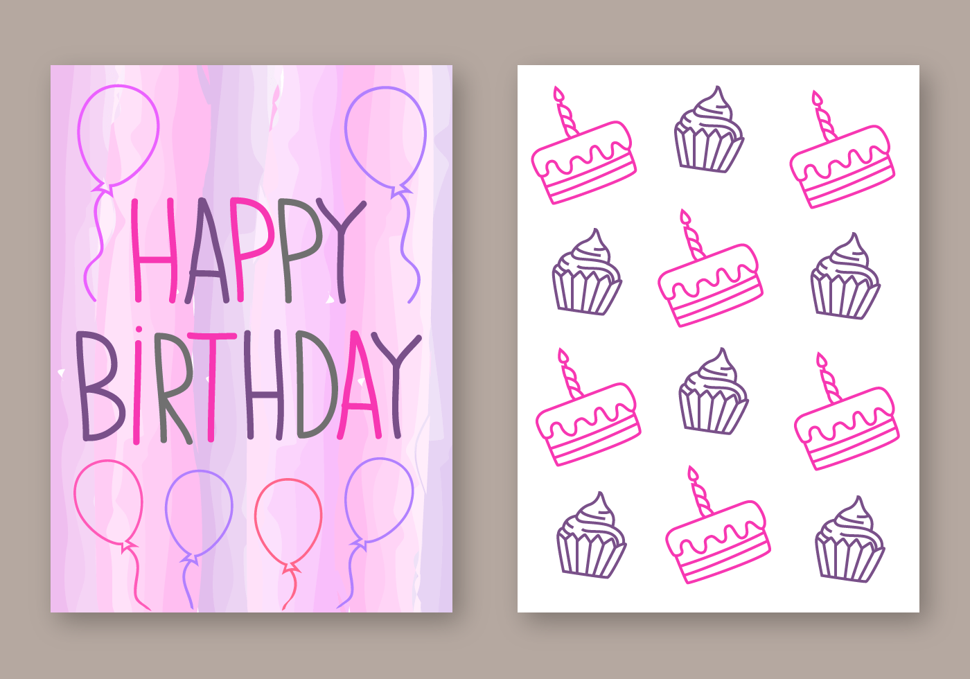 Geburtstagskarte Gestalten Free Happy Birthday Card Vector - Download Free Vectors