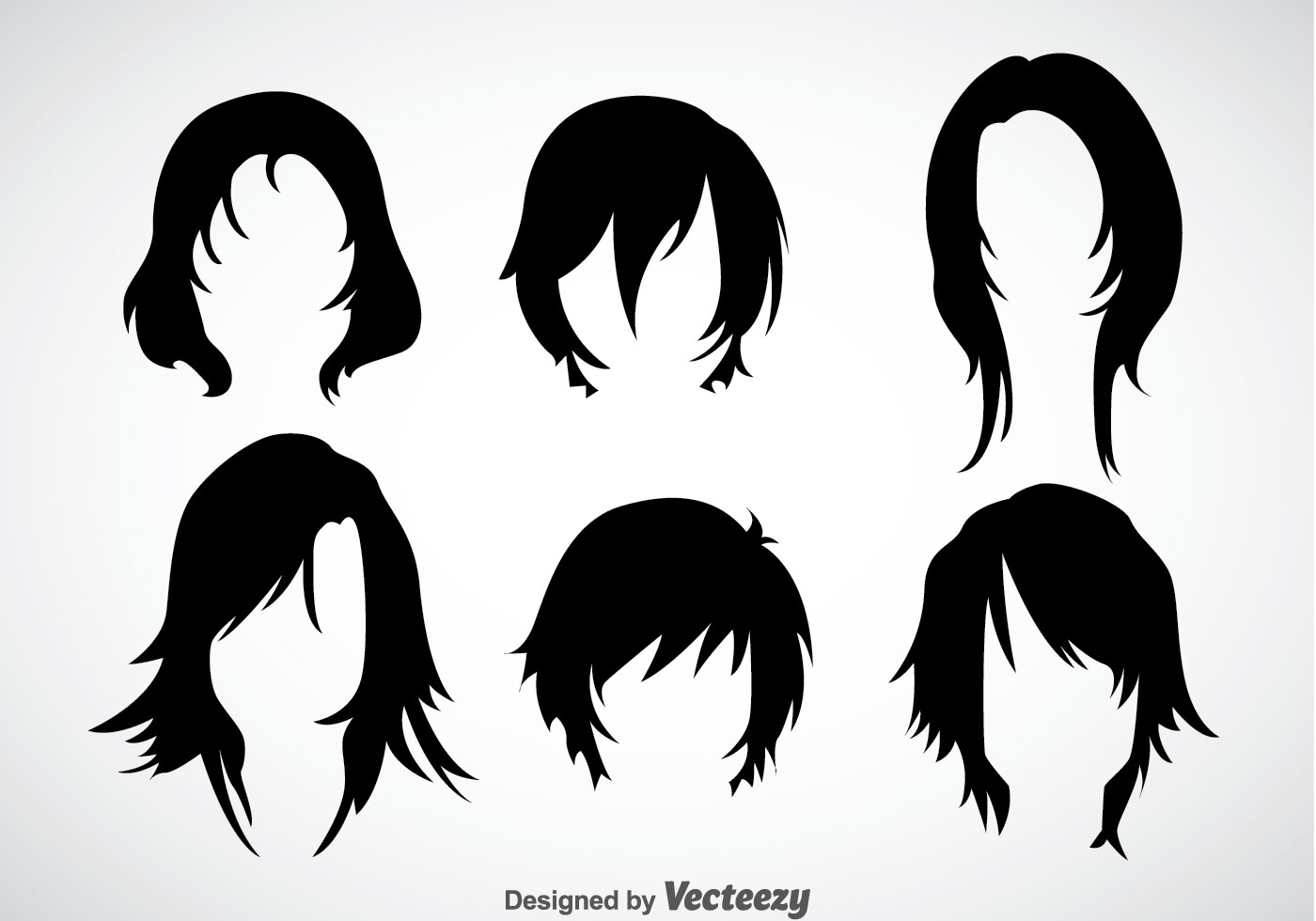 Cute Korean Little Girl Wallpaper Girl Hairstyles Vector Sets Download Free Vector Art
