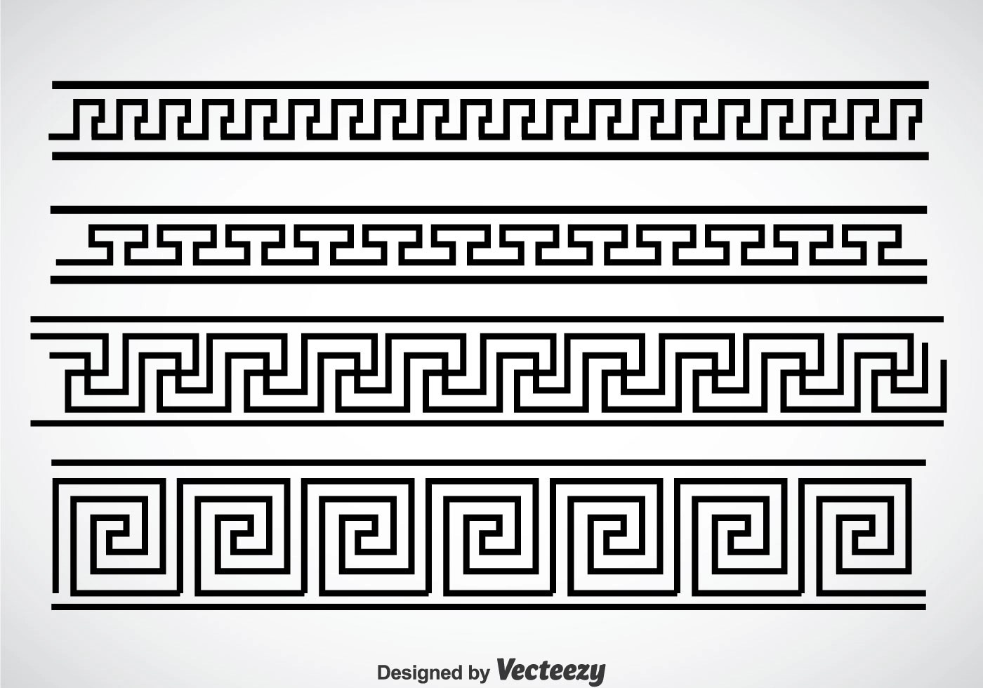 Griechische Muster Greek Key Black Border Vector Sets Download Free Vector