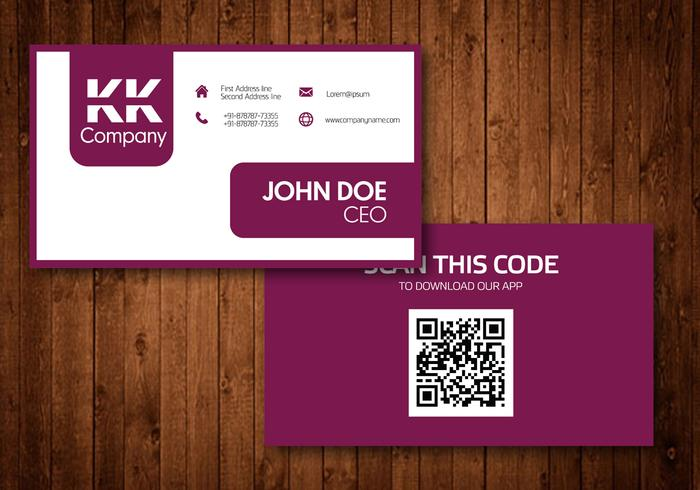 Two Sided Business Card Vector Design - Download Free Vector Art