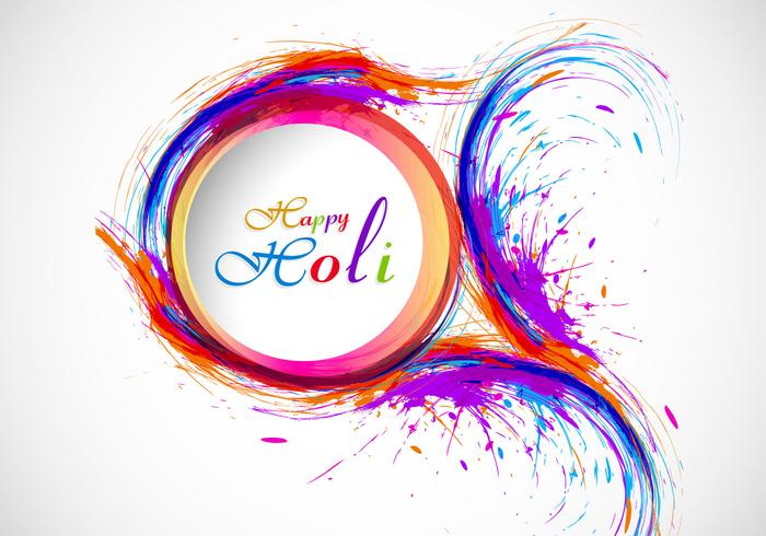 Neon Fall Wallpapers Splash Of Holi Color On Card Download Free Vector Art
