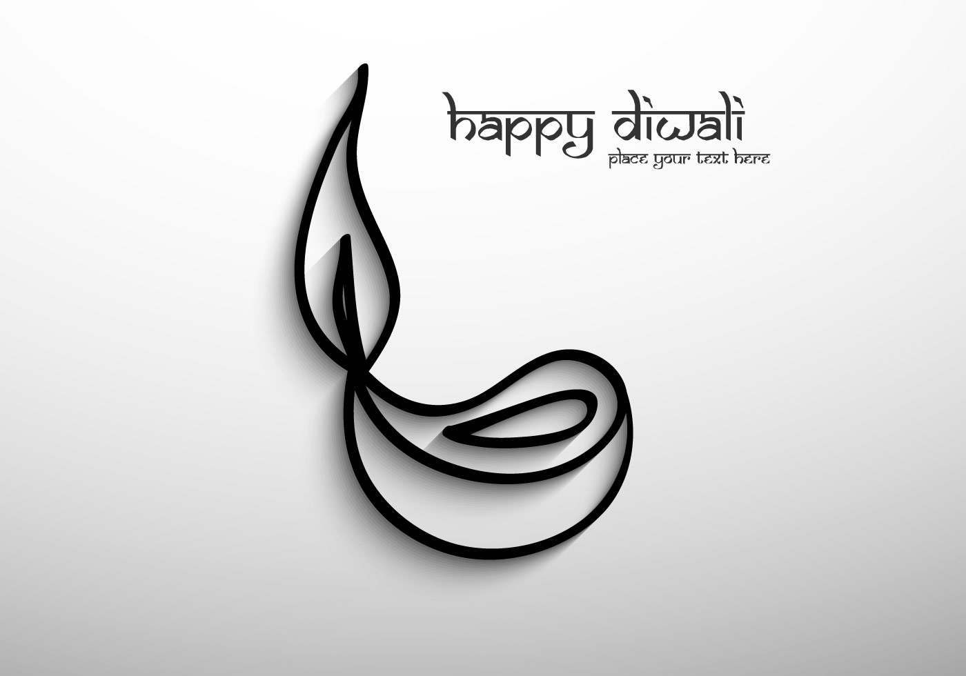 Diwali Black And White Pictures Black Outline Diya Download Free Vector Art Stock