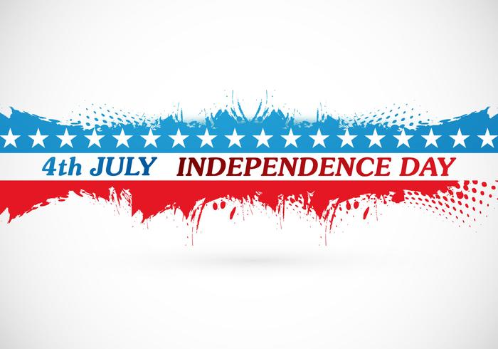 4th July Independence Day Card - Download Free Vector Art, Stock